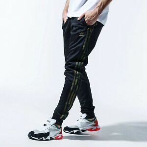 Adidas 3 Stripe Camo Tapered (Men's Size M) Black Athletic Jogger Fitted Pants