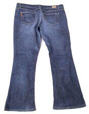 PAIGE Petite Jeans ~ Lou Lou ~ Dark Wash Boot Cut Mid Rise Sz 32 x 27.5