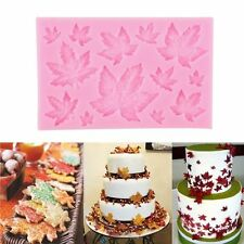 3D Maple Leaf Silicone Fondant Mold Cake Decorating Chocolate Baking Mould Tool