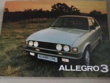 Austin Allegro 3 Car Brochure - December 1979