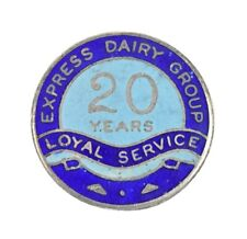 More details for express dairy group 1941 20 years long service silver & enamel badge brooch