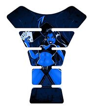 Devil 4 Aces Blue Motorcycle 3D Gel tank pad tankpad protector Guard Decal