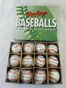 Rawlings Little League RS-T Baseball Leather Game Ball one Dozen (12) White NEW