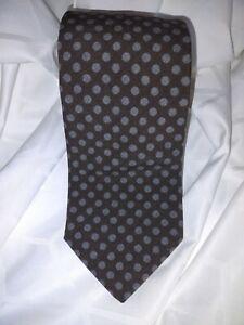 Peter Millar Men's 100% Wool Tie NWT Made In USA Polkadot Black Grey