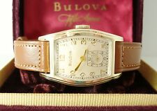 Vintage Bulova 'Dean' Men's Watch c1941, Running, Orig Display Box & NOS Strap