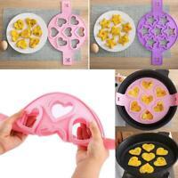 1x Nonstick Pancake Maker Moulds Silicone Omelette Egg Ring Maker Kitchen Molds