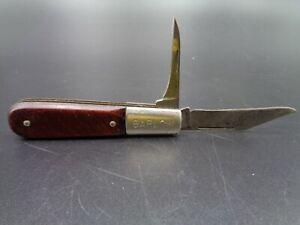 Vintage 1950's Barlow Pocket Knife, Two Folding Blades - Imperial Prov. R.I. USA