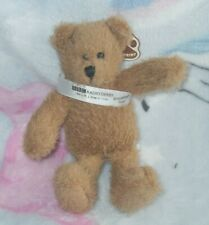 paw prints BBC RADIO DERBY BREAKFAST BEAR beanie soft toy (K)