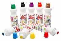 Scola Chubbi Lot de 8 marqueurs de peinture 75 ml, Yellow/Purple/Black/Brown/Gre