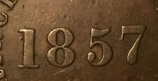 1857 PEI SELF GOVERNMENT AND FREE TRADE HALFPENNY TOKEN - Unusual High/near 7
