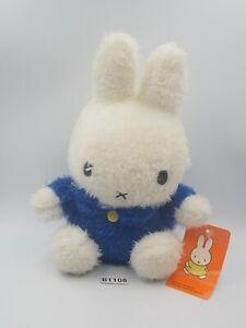 "Miffy B1108 Rabbit Bunny Fluffy 2001 Dick Bruna Plush 8"" TAG Toy Doll Mercis"