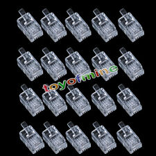 20 X Durable 4 Pin RJ11 6P4C Modular Plug Connector for Telephone Phone RT