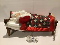 Vintage Original Animated Sleeping Snoring Musical Santa Christmas On Mainstreet
