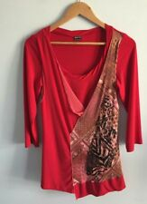 MOTTO Stretch-fabric Mesh-Lace Tunic Top - Size 12