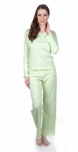 Hering Crewneck Long Sleeve 100% Cotton Pajama Set 7675