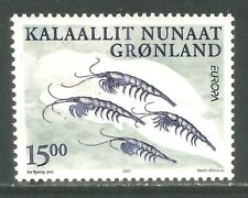 Greenland 2001 Europa/Krill-Attractive Marine Life Topical (386) Mnh