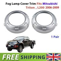 LH+RH Fog Lights Lamp Cover Trim For Mitsubishi L200 Triton Pick-up 2005-2009