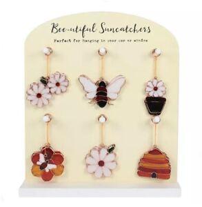 🐝Bee Suncatcher Honey Hive Hanging Stained Glass Sun Honeycomb Window garden