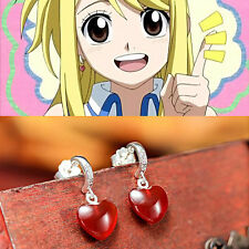 Anime Fairy Tail Lucy Cosplay Earrings Ear Silver Pendant Gift