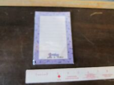 Vintage Little Fisher Price toy Smooshees Smooshies Note Pad Paper New purple