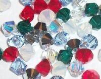 Swarovski crystal beads bicone style 5328 Christmas Mix choose size