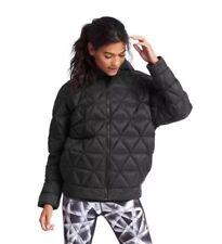 GAP Xs/S Black Water Repellent Primaloft Zip Hooded Oversized Puffer Jacket Coat