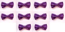 LOT OF 10 Medium Violet Purple Men's Adjustable Bowties/Bow tie Tuxedo Wedding