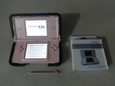 FULLY TESTED Original Nintendo DS Lite Pink Handheld System W Charger Nerf Grip