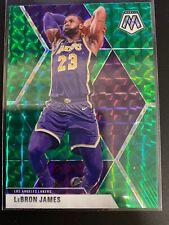LEBRON JAMES 2020 Mosaic Green Refractor Los Angeles Lakers