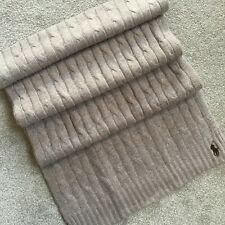 POLO RALPH LAUREN OATMEAL CABLE KNIT SCARF RETAIL £89 BNWT