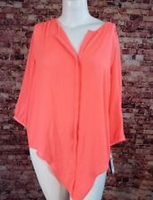 52f0c110a0555 Peter Nygard Bright Orange Invisible Buttons Top Blouse Shirt Size 20W