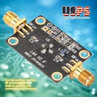 50K-4GHZ RF Wideband Amplifier 25DB low-noise LNA Broadband Module Receiver USA