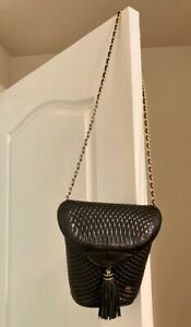 BALLY QUILTED, BLACK LAMBSKIN, SHOULDER STRAP CHAIN BAG (WOMAN)