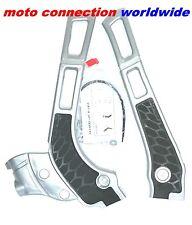 ACERBIS X-GRIP FRAME GUARDS SILVER/BLACK  YAMAHA YZ125 YZ250 2005 - 2017