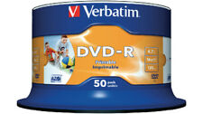 Verbatim DVD-R Full Face Jet D'encre Imprimable 50 Pack Spindle 4.7 Go 43533 43649