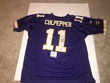 Autographed Duante Culpepper Jersey. Minnesota Vikings. Reebok. Beckett COA.