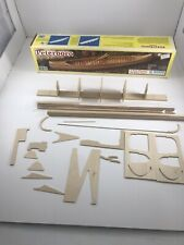 "Vintage Midwest Products ""The Peterboro"" 16"" Wood Canoe Model Kit 1:12 USA Made"