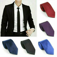 Mens Fashion Classic Solid Plain Tie Jacquard Woven Silk Suits Ties Necktie Gift