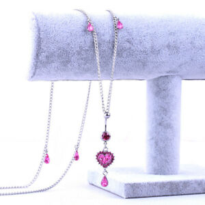 Women Sexy Belly Waist Chain Dangle Jewelry Navel Ring Pink stone Body Chains