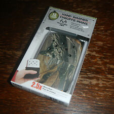 Zippo Hand Warmer RealTree Camoflage Finish 12 Hours 40349 w/ Filler Cup + Bag