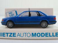 """Rietze 30422 Audi 100 Limousine (1990) """"TAXI / Italien"""" in blau 1:87/H0 NEU/OVP"""