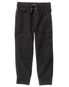 NWT Gymboree Boys Pull on Pants Jogger Black Jersey lined Shipmates ManySizes