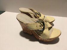 Casadei Women cream  Platform cork heel Sandal sz8