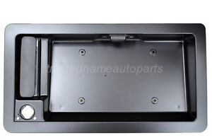 fits Ford Econoline Outside Cargo Door Handle with License Plate Holder Bracket