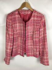 BLAZER, mehrfarbig rosa, Größe 38, Baumwollmischung