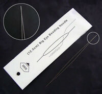 Big Eye Beading Needle long 10cm Edelstahl Nähnadeln 100mm x 0,3mm Y10