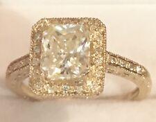 & Natural Diamonds Engagement Ring 10K Yellow Gold Radiant-cut 1.30CtMoissanite