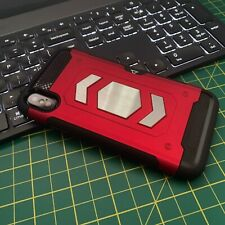 Apple iPhone 8  Rugged Case Carbon Detailing Protective Bumper RED CAZE™