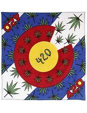 Colorado State Flag 420 Marijuana Leaf Bandana Pot Bandanna Weed Hanky Doo Rag