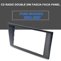 For Ford Focus Mondeo Black radio Double 2 Din fascia dash panel facia trim